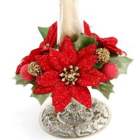1 Poinsettias candle ring