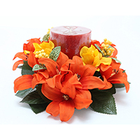 3 TIGER LILY CANDLE RING