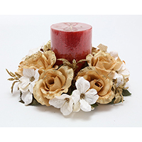 3 WILD ROSES CANDLE RING
