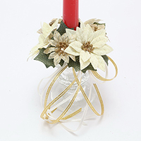 1 POINSETTIA CANDLE RING